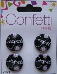 4 Buttons - Confettie  21 mm