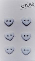 6 Miniherz - Pastelblau  6  x 7 mm