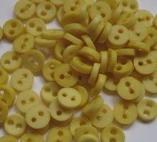 6 Miniknöpfe - gelb  4 mm