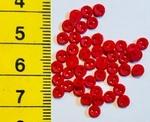 6 Miniknöpfe - rot  4 mm