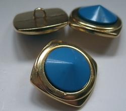 MG - Knoop - blauw  21 mm