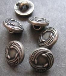Zilverkleur-Knoop  11 mm