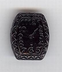 Glasklokje - zwart  20 x 17 mm