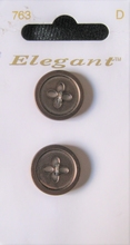 2 Buttons - Elegant  22 mm