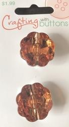 2 pcs Strass - Buttons  21 mm