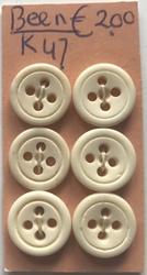 6 knopen - Been  13,5 mm