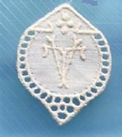 1 Monogram  T.V.- V.T.  3 x 2,5 cm