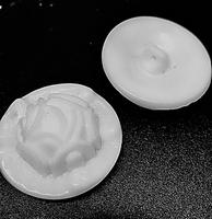 Glasknoop - wit  27 mm