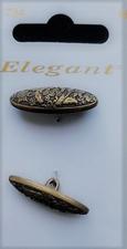 2 Knöpfe - Elegant  28 x 10 mm