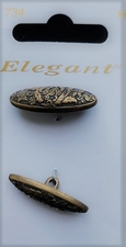 2 Buttons - Elegant  28 x 10 mm