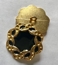 Anchor-button (black)  27 mm