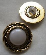 Gold-Knoop  18 mm