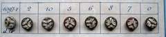 8 Buttons - Antique Button  9 mm