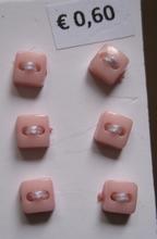 6 knoopjes - roze  5 mm