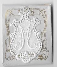 6 Monogrammen F.M.  4,5 x 2,5 cm