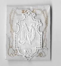 6 Monogrammen -  D.N.  4,5 x 2,5 cm