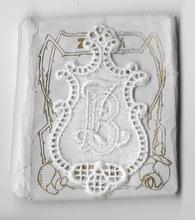 6 Monogrammen B.Z.  4,5 x 2,5 cm