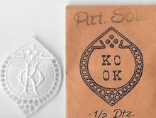 6 Monogrammen - K.O. - O.K  29 x 24 mm