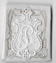 6 Monogrammen G.P.  4,5 x 2,5 cm