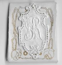 6 Monogrammen N.R.  4,5 x 2,5 cm