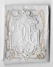 6 Monogrammen U.U.  4,5 x 2,5 cm