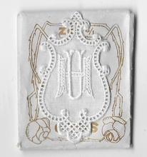 6 Monogrammen H.U.  4,5 x 2,5 cm