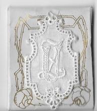6 Monogrammen - U.Z.  4,5 x 2,5 cm