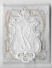 6 Monogrammen G.W.  4,5 x 2,5 cm