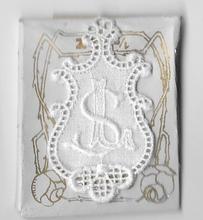 6 Monogrammen L.S.  4,5 x 2,5 cm