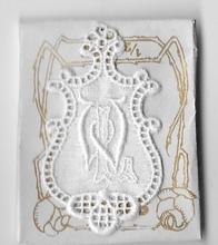 6 Monogrammen - L.W.  4,5 x 2,5 cm