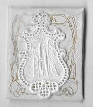 6 Monogrammen - R.W.  4,5 x 2,5 cm