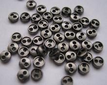 6 Miniknöpfe  -  dunkler  4 mm