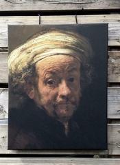 Zelfportret Rembrandt 40 x 50 geen canvas  50 x 40 cm