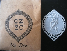 6 Monogrammen - G.N. - N.G.  29 x 24 mm