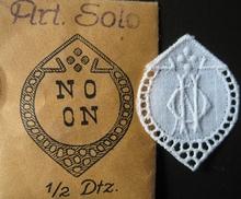 6 Monogrammen - N.O. - O.N.  29 x 24 mm
