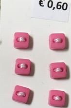 6 knöpfe -Dunkler Rosa  5 mm