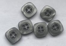 Grau-Knopf  10 mm