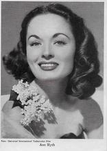 Ann Blyth  13,5 x 9,5 cm