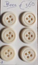 6 Knopen - Been  18/19 mm
