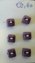 6 knoopjes - paars  5 mm