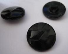 Glasknoop - zwart  18 mm