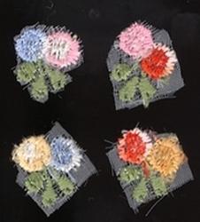 4 Blumen  15 mm