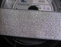 Band - zilverkleur (1 mtr)  34 mm
