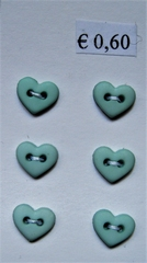 Heart - Button  6  x 7 mm