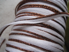 Band - wit (2,5 mtr)  6 mm