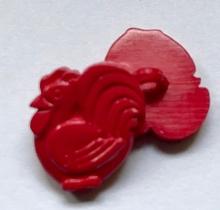 Haan - rood  16 x 15 mm