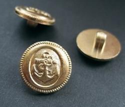 Ankerknopf -goldfarbe  15 mm