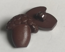 Paddestoel - bruin  15 x 14 mm