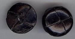 Knoop - zwart  20/21 mm