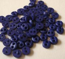 6 miniknoopjes - paars  4,2 mm